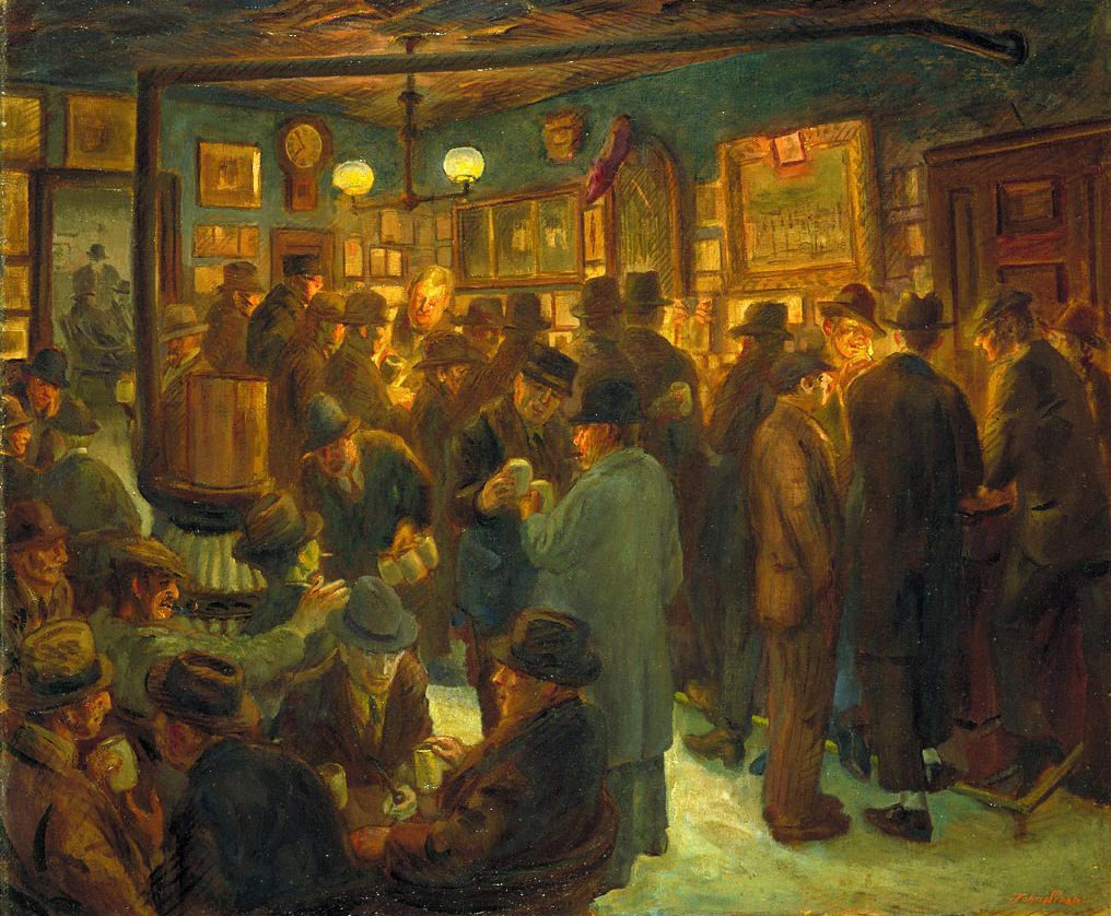 McSorley's Saturday Night , John Sloan, 1929.