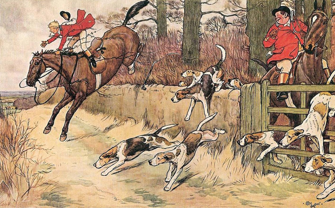 Cecil Aldin  ,  Fox Hunt  .