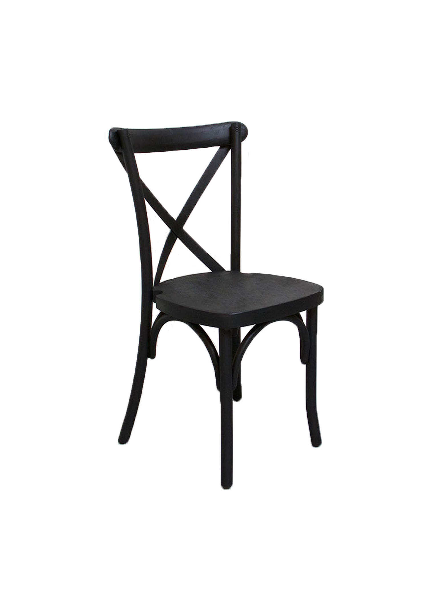 $9.75 Black Cross-Back Chair