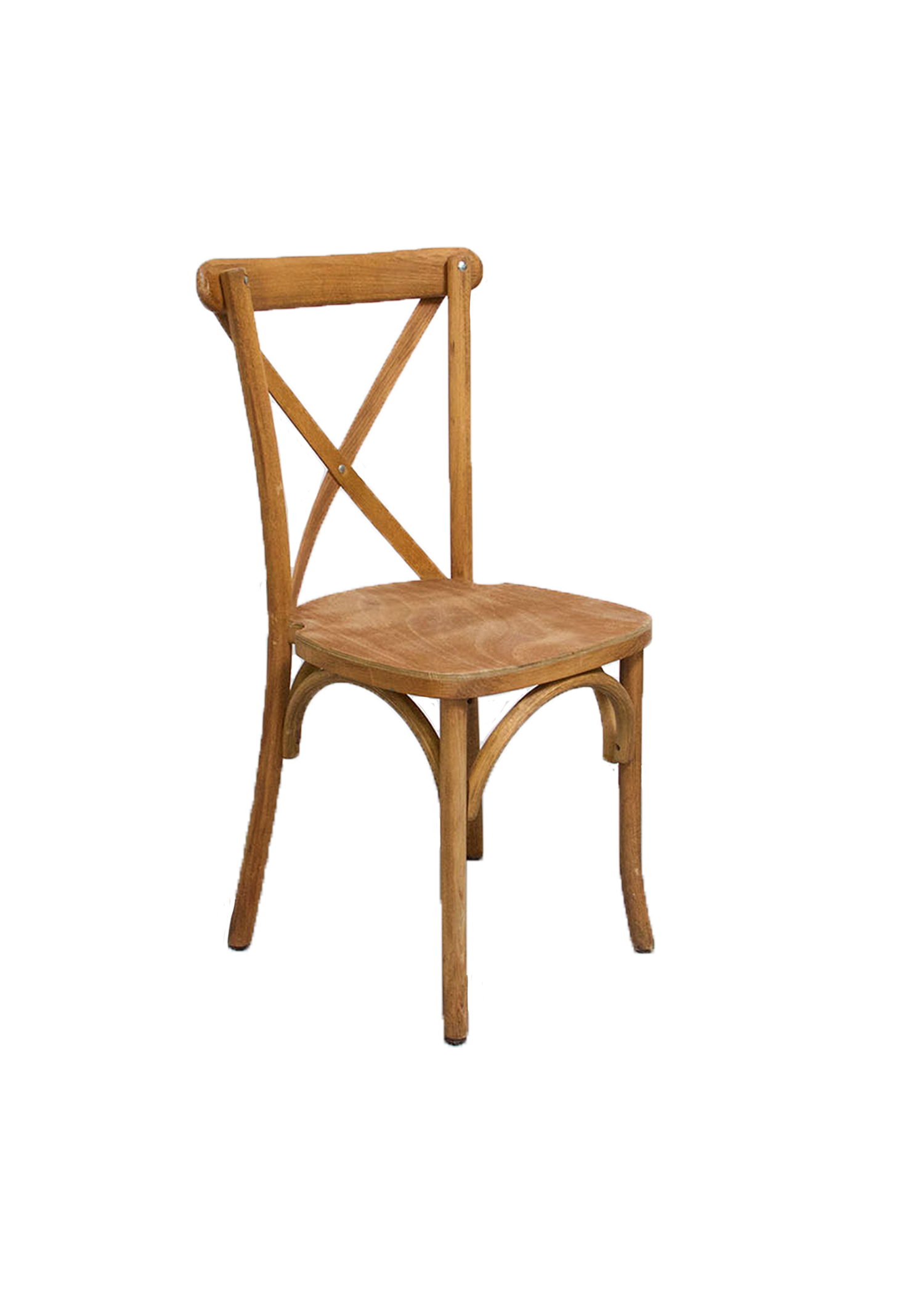 $9.75 Honey Brown Cross-Back Chair