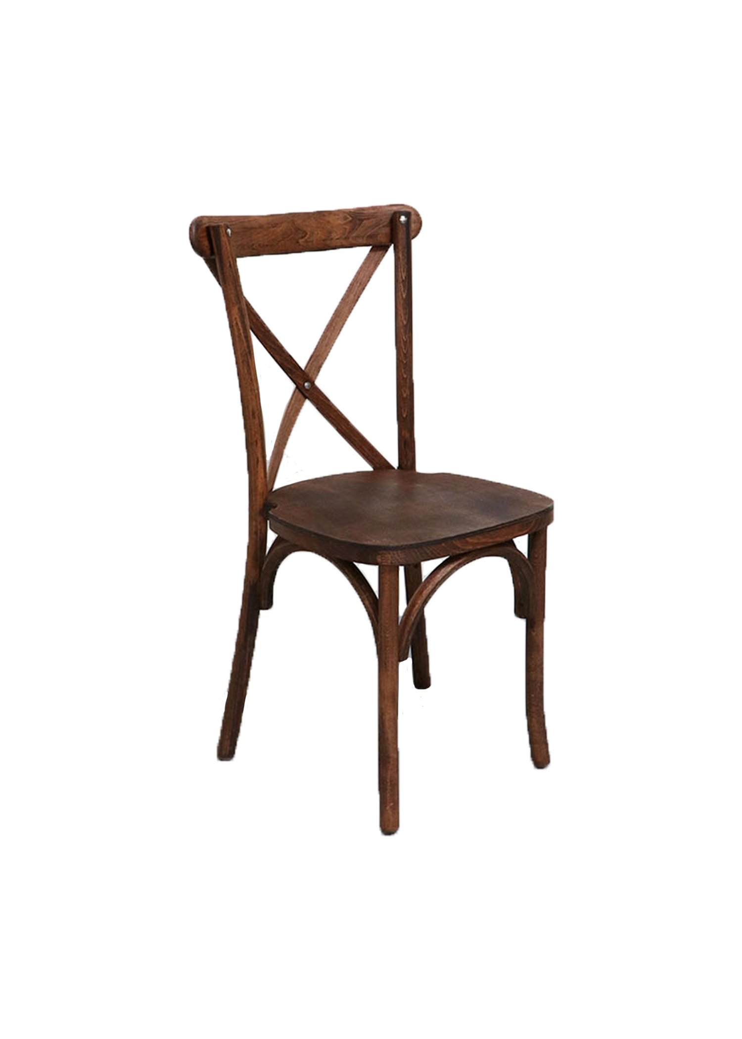 $9.75 Mahogany Cross-Back Chair