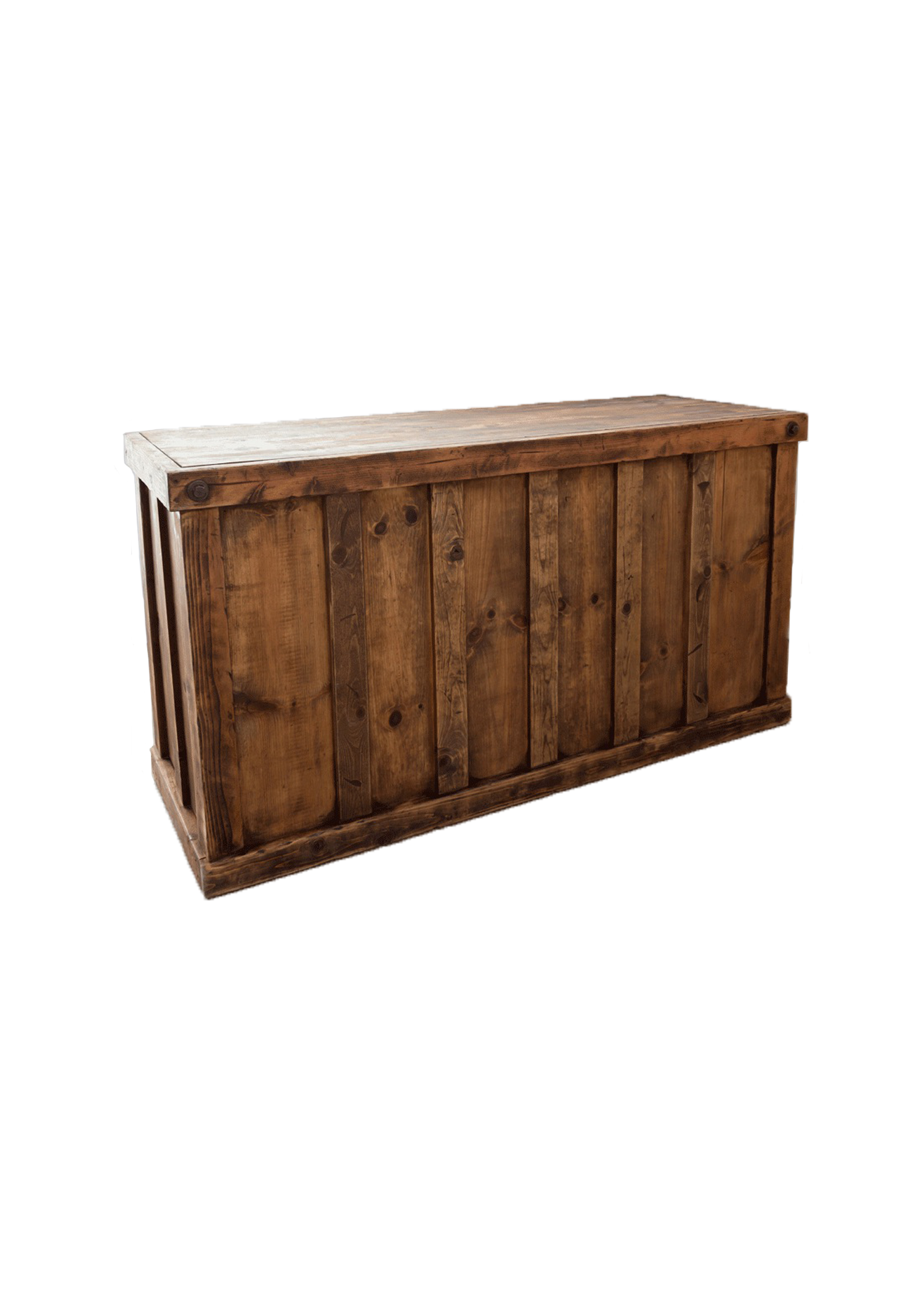$225 Honey Brown Wooden Bar 6ft