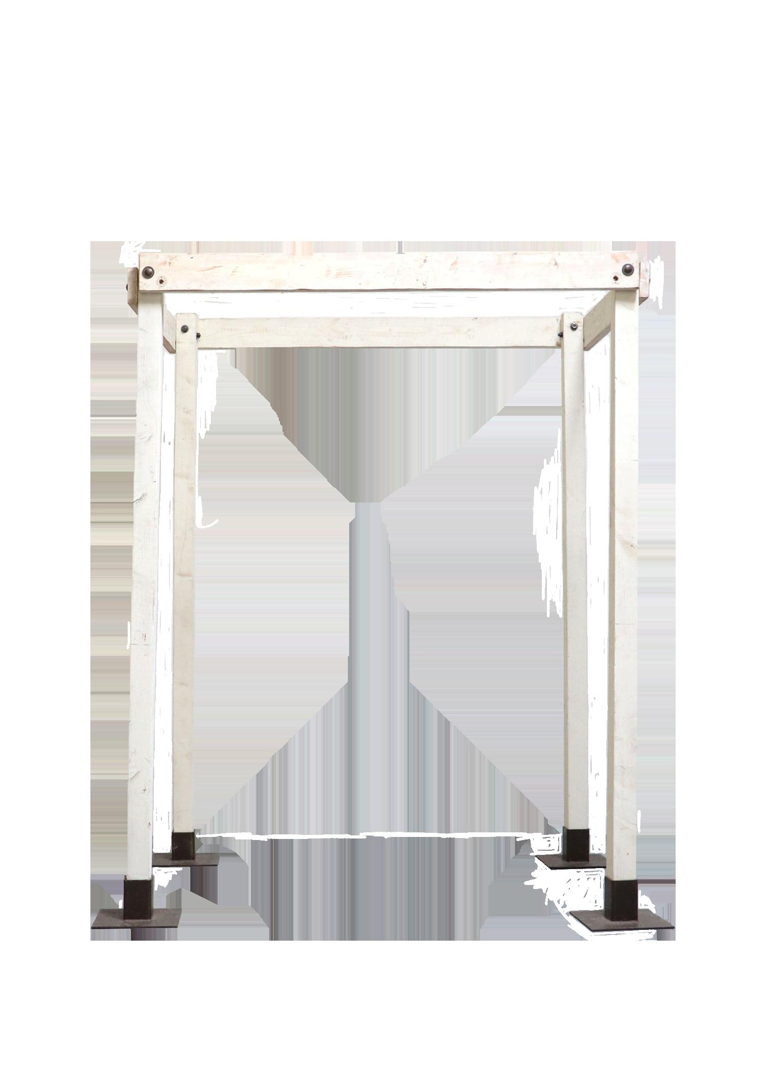$225 4-Legged Vintage White Classic Arch