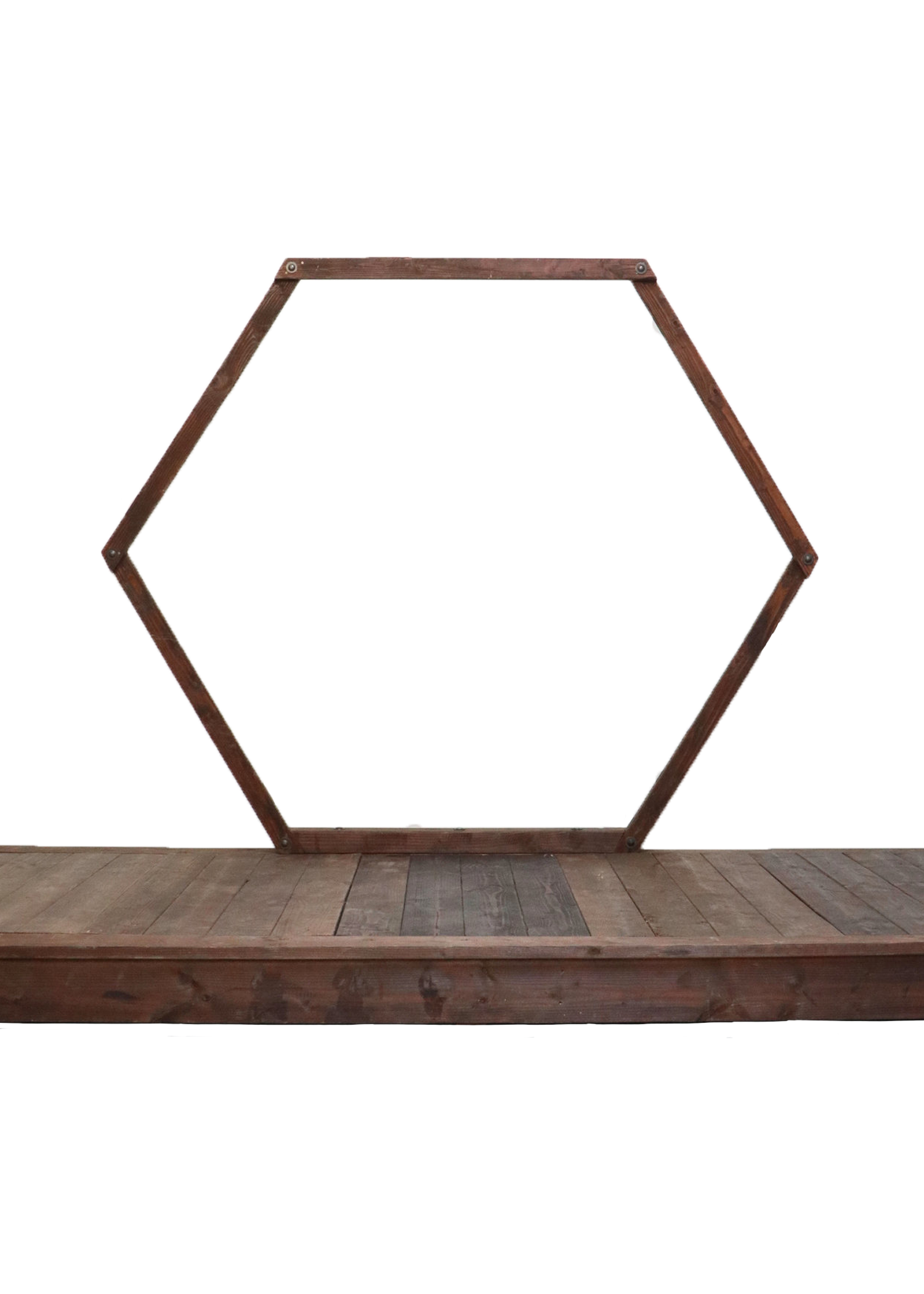 $450 Helen's Hexagon with Wooden Stage