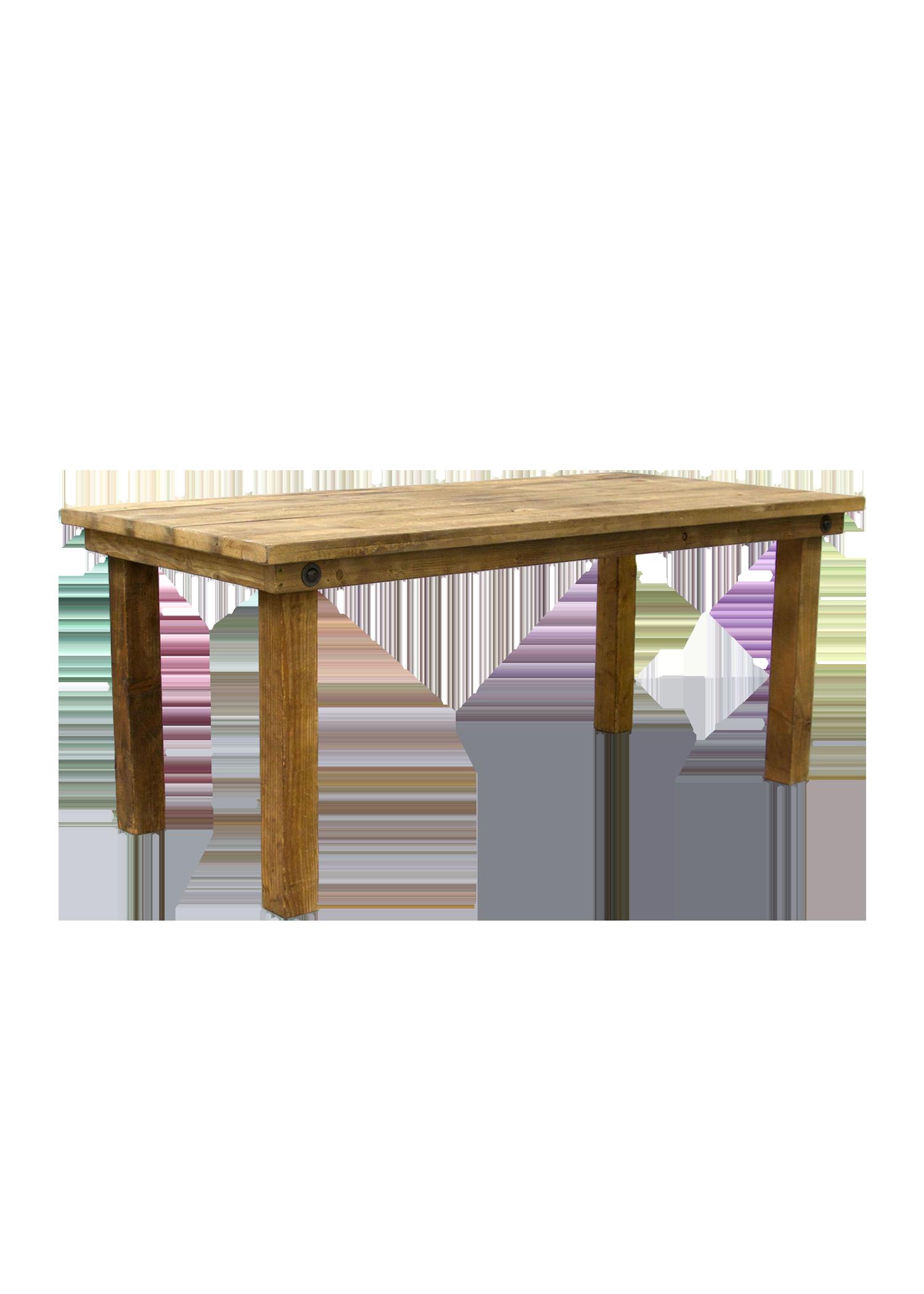 $65 Honey Brown 6ft Table (Dessert)
