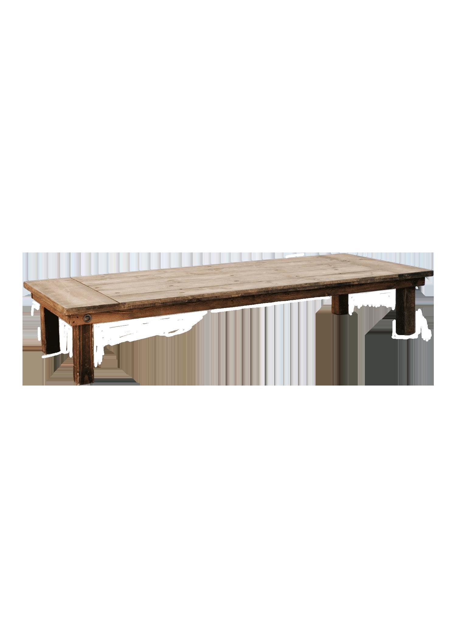 Honey Brown 8ft Boho Table