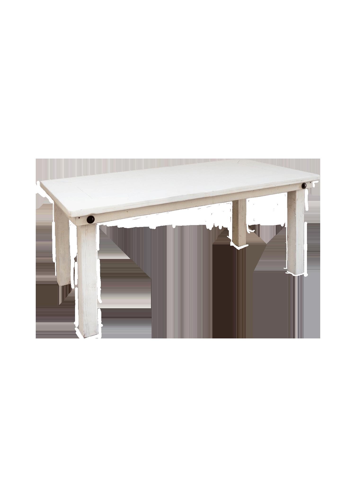 $65 Vintage White 6ft Table (Dessert)