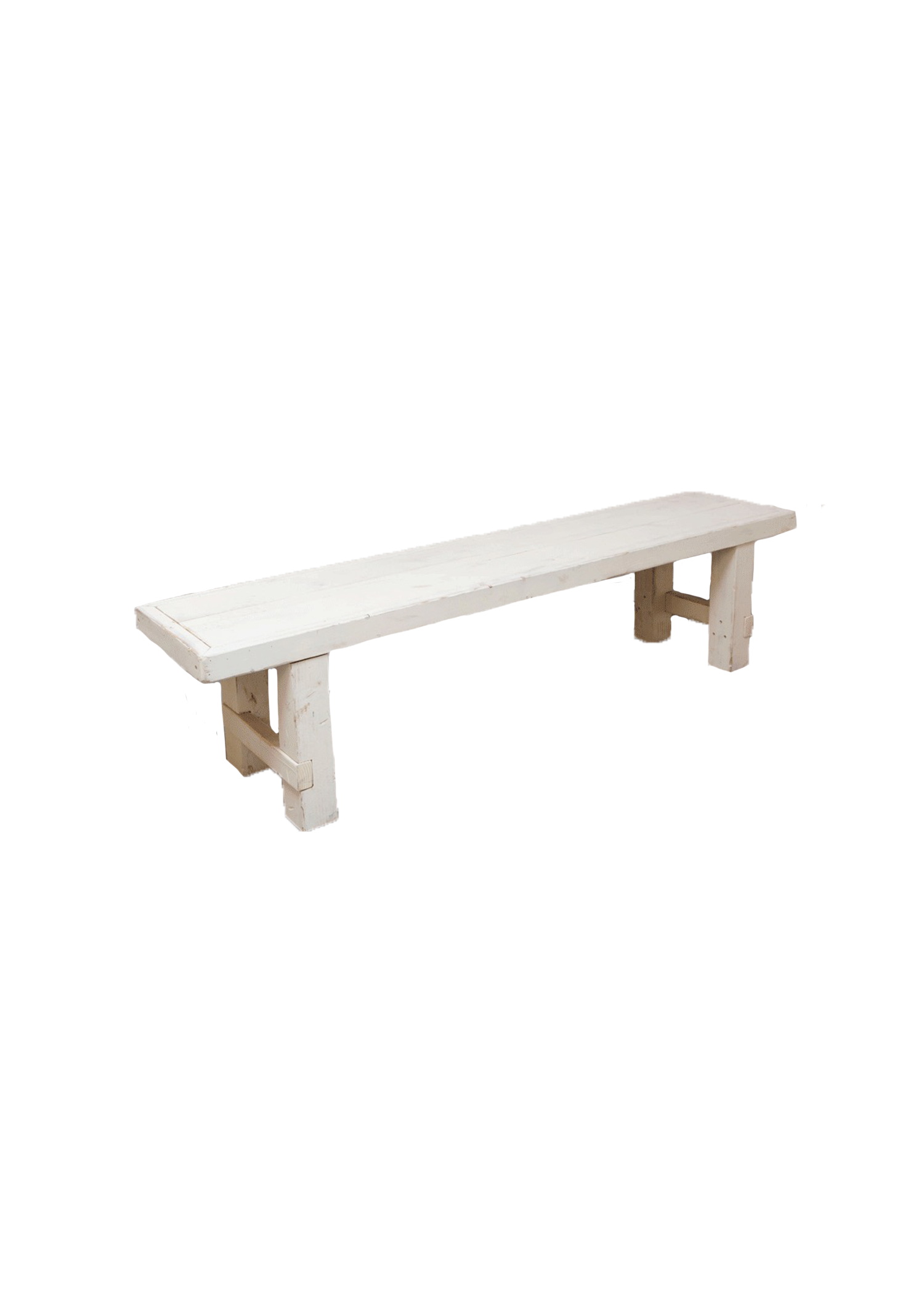 $40 Vintage White Long Bench