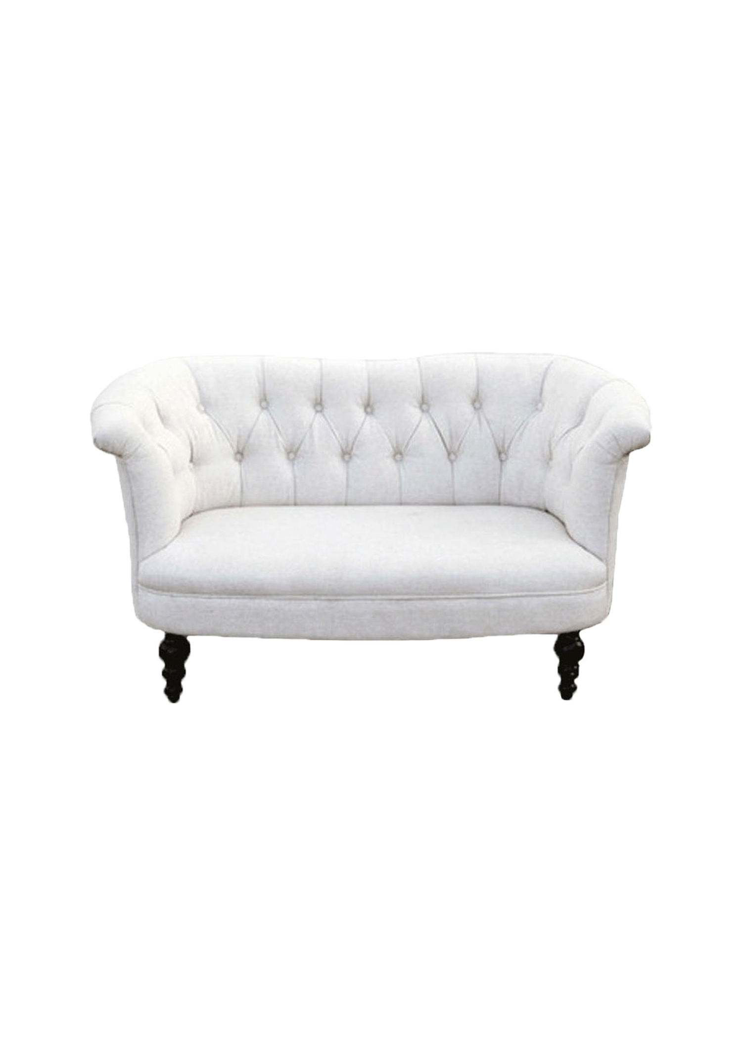 $150 Sweetheart Cream Tufted Sofa
