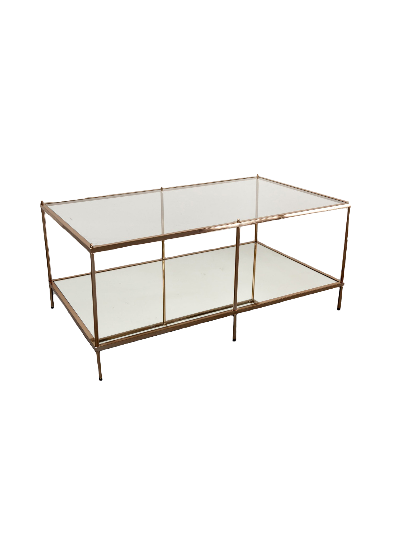 $75 Rose Gold Rectangular Coffee Table