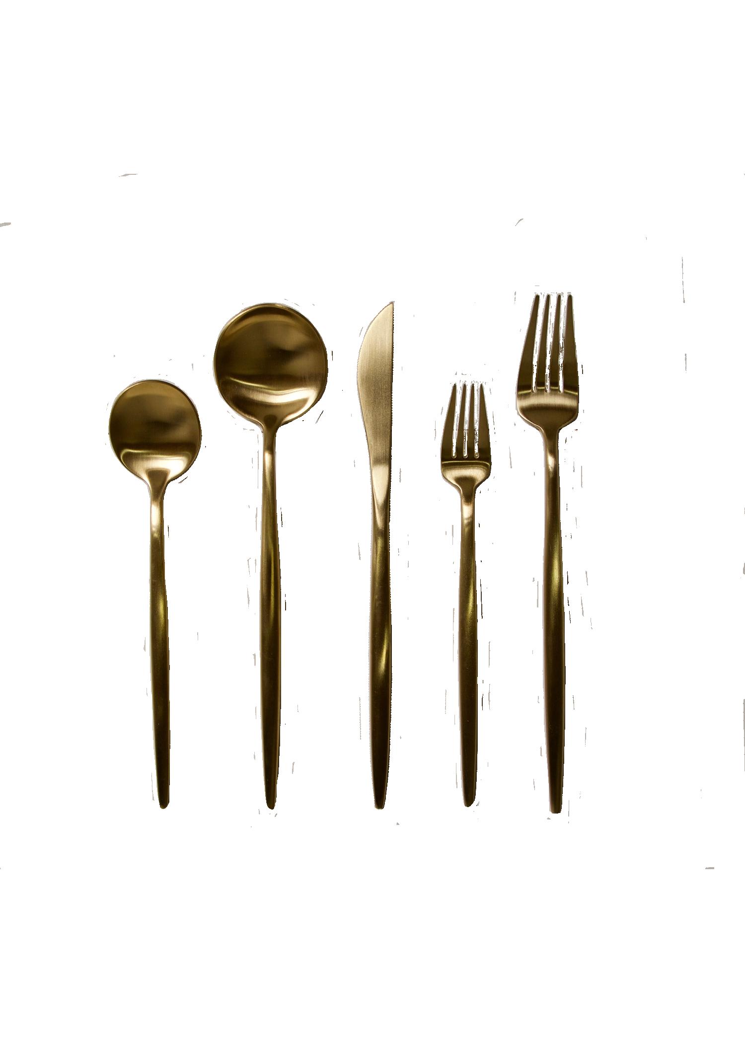 5-piece Gold Flatware