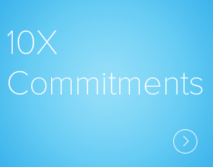 10X Commitments  Lens describes a key structure designed to support individuals and organizations in leaping beyond what they consider possible, in challenging the existing cultural patterns and pioneering a more generative organization culture