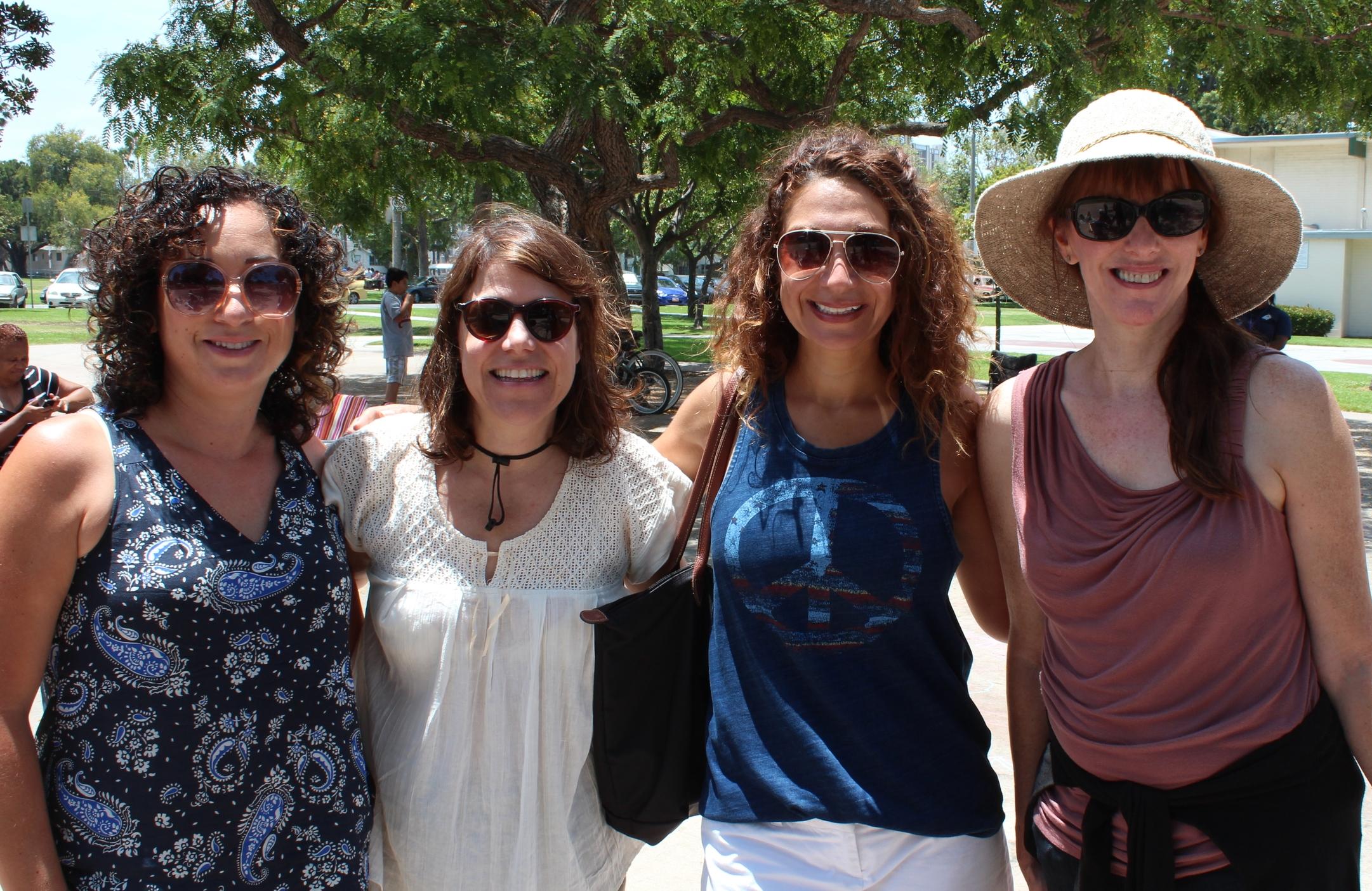 Friends of Bixby Park membersRuth Lozano &Claudia Schou, 3rd District CouncilwomanSuzie Price with Pretend Lab Co-FounderHeidi Dotson