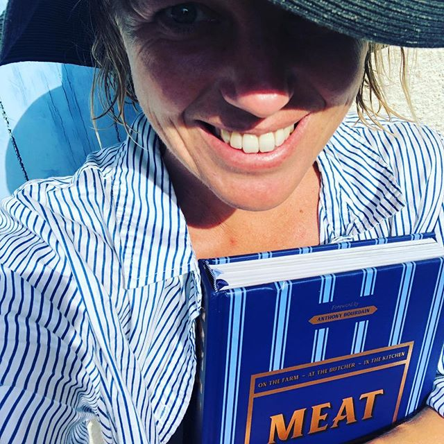 So wonderful to receive the first copy of my book accompanied by the same blue skies under which I wrote so much of it ... . Of course, I say my book, but it is nothing of the sort. This is a book created by so many hands. My wonderful co-author @askthebutcher_ , whose knowledge is distilled within its 512 pages; @emmatknowles for the exquisite recipes (all 110 of them!); @alan_benson_photographer whose photos tell the story from farm to butcher to cook in a way my words never could; @northwood_green for their design skills and patience (incredible patience!!) and last, but most certainly not least, the amazing team @murdochbooks - most particularly our brilliant editor @janemorrow who conducted the whole orchestra. .  I am incredibly humbled by the opportunity to learn so much, not just about meat but also about the effort that goes in to each and every book on my bookshelf. What a year, what an incredible feeling to have it in my hands. .  PS - it is now available for advance purchase with an excellent discount. The link is on my profile!