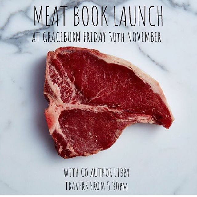 I'm very excited about this Friday's country book launch @graceburnwineroom. There will be all the good things (food, wine, music - suggestions for my meat playlist are warmly welcomed - and, of course, conversation). If you're south of the border, you should come and play ... get onto their website for all the details.