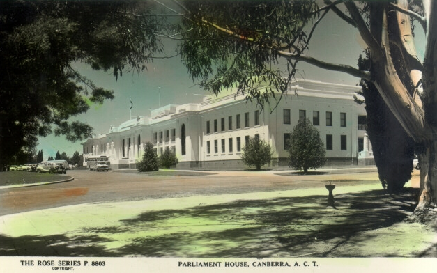 OLD PARLIAMENT HOUSE, ACT HERITAGE LIBRARY, ACT ADMINISTRATION COLLECTION.