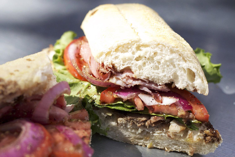 roast beef • turkey • ham • lettuce • tomato • onions • oil & vinegar • salt & pepper • oregano
