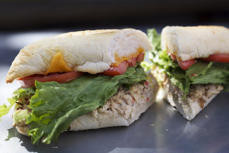 albacore tuna • cheddar • mayo • lettuce • tomato