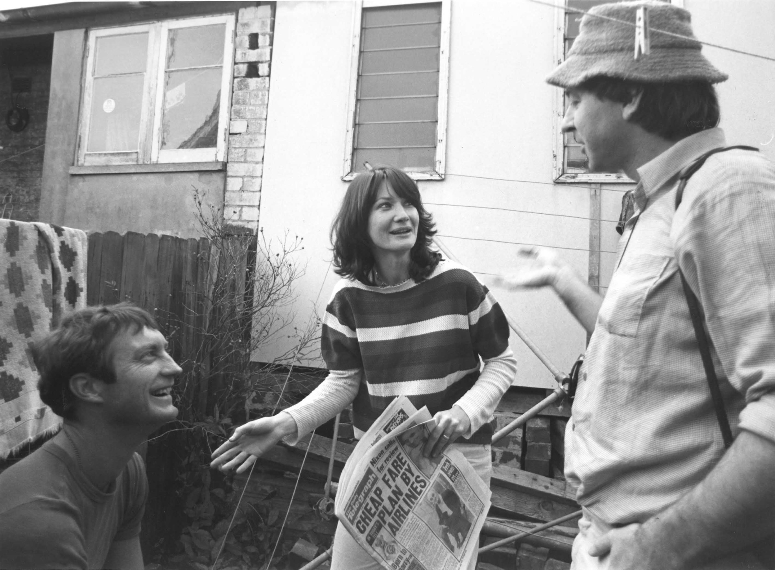 Stephen Wallace directing Bryan Brown and Chris McQuade at the time of Love Letters From Teralba Road. Circa 1977.