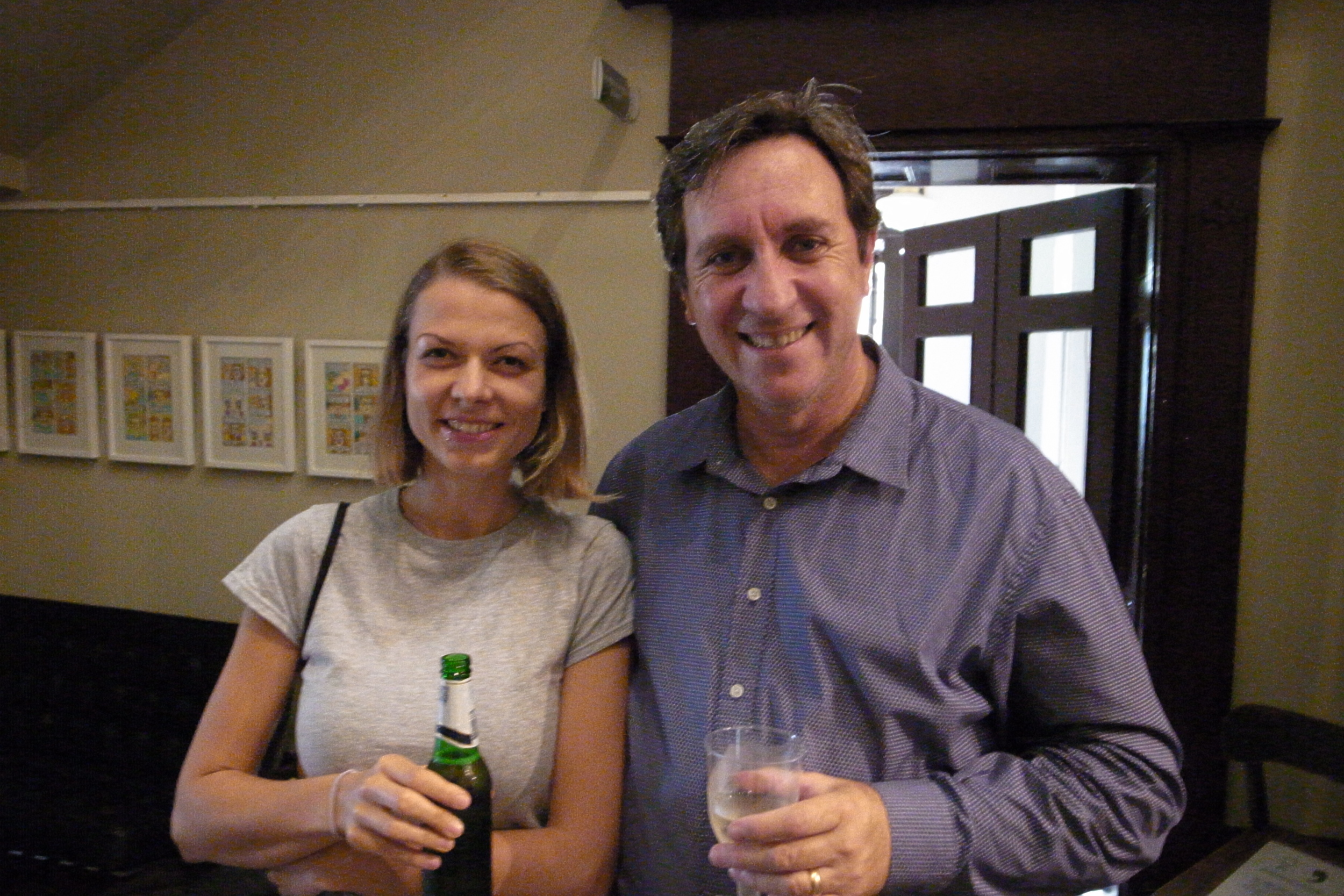 Franky Lemke and Kingston Anderson at final vote at Writers Centre 16 December 2014