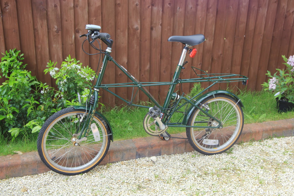 I cycle sometimes. This is my space-frame Moulton