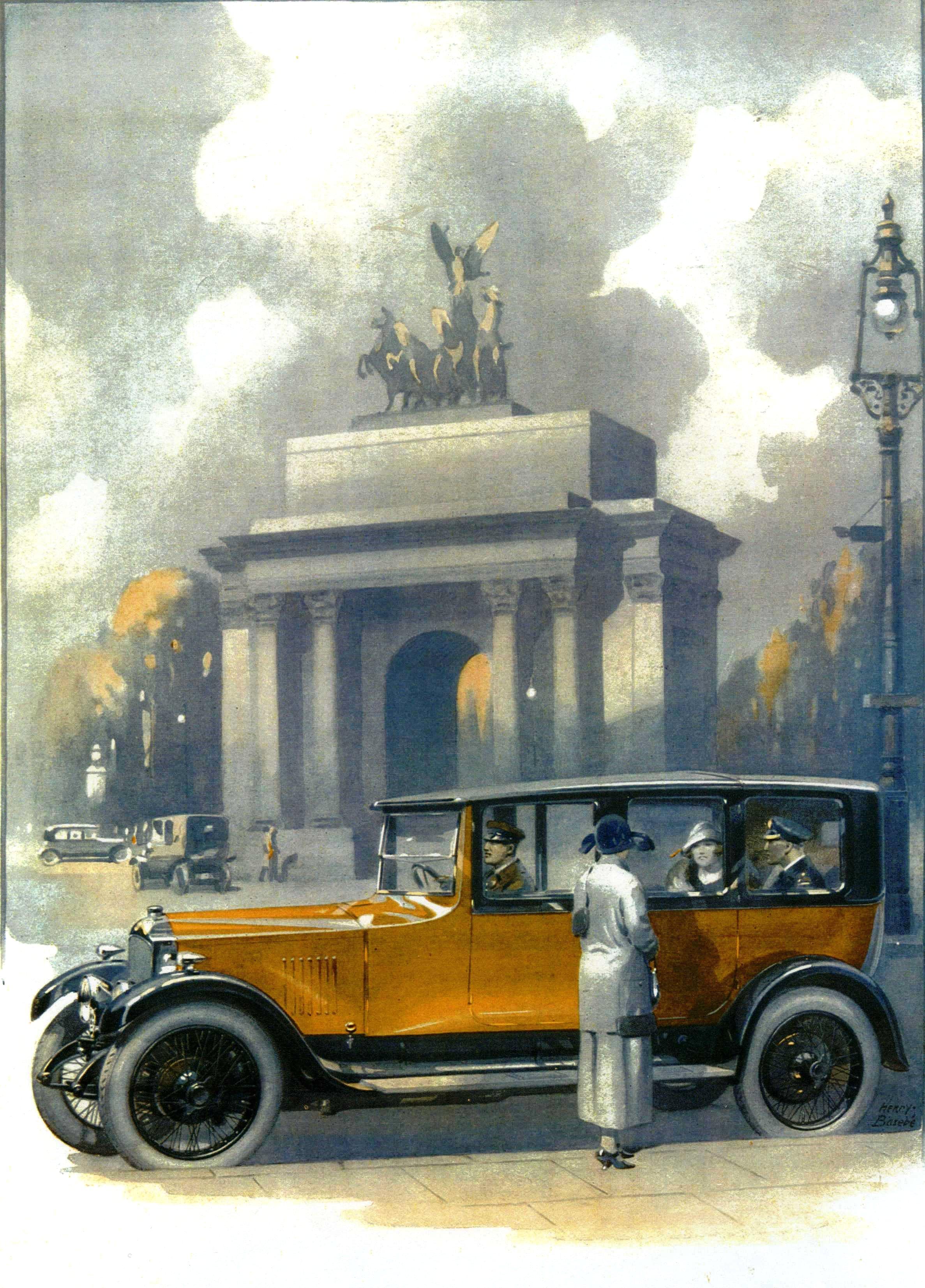 1922 OD Vauxhall - on a calm evening.