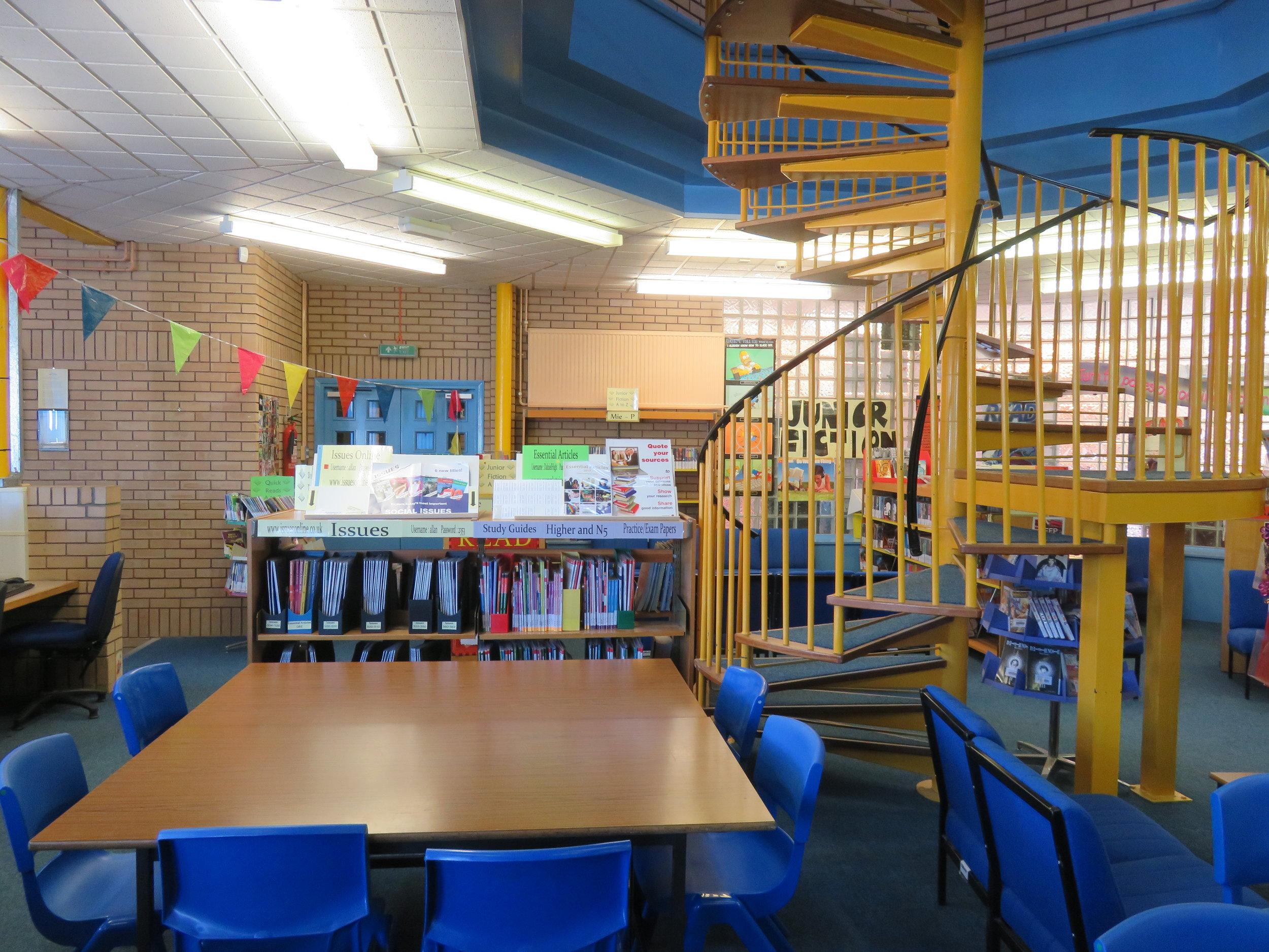 Dalziel High School library