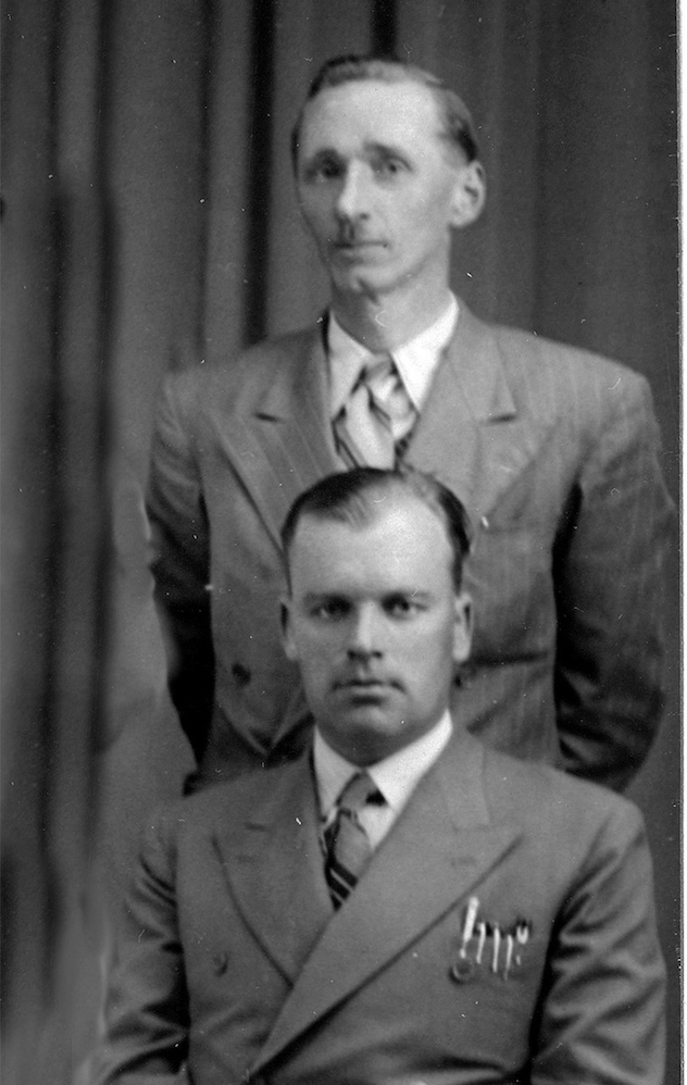 James K Scobbie (front) and Shakespeare scholar and textbook author Andrew S Cairncross who both taught me English.(1930s sports team picture pre-dating ASC's connections with Cambridge)