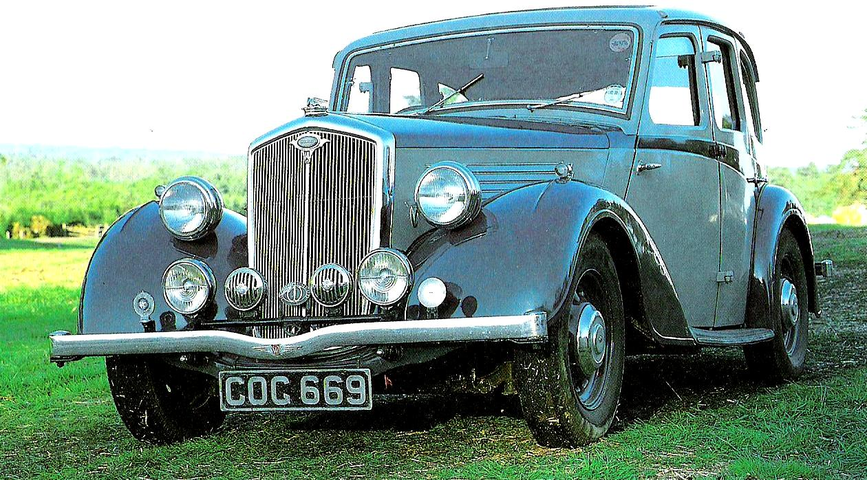 I grew up in a grey and blue Wolseley Fourteen like this.
