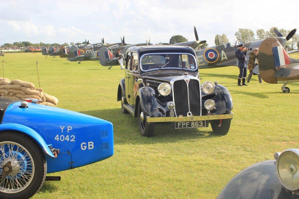 Goodwood 2011. Mr Martin's Rover-next-door was just like this. Our Wolseley 14's upper-crust rival.