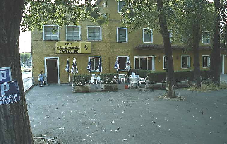 Cavallino restaurant opposite the factory gate where I my wife and I once had lunch with Enzo Ferrari.