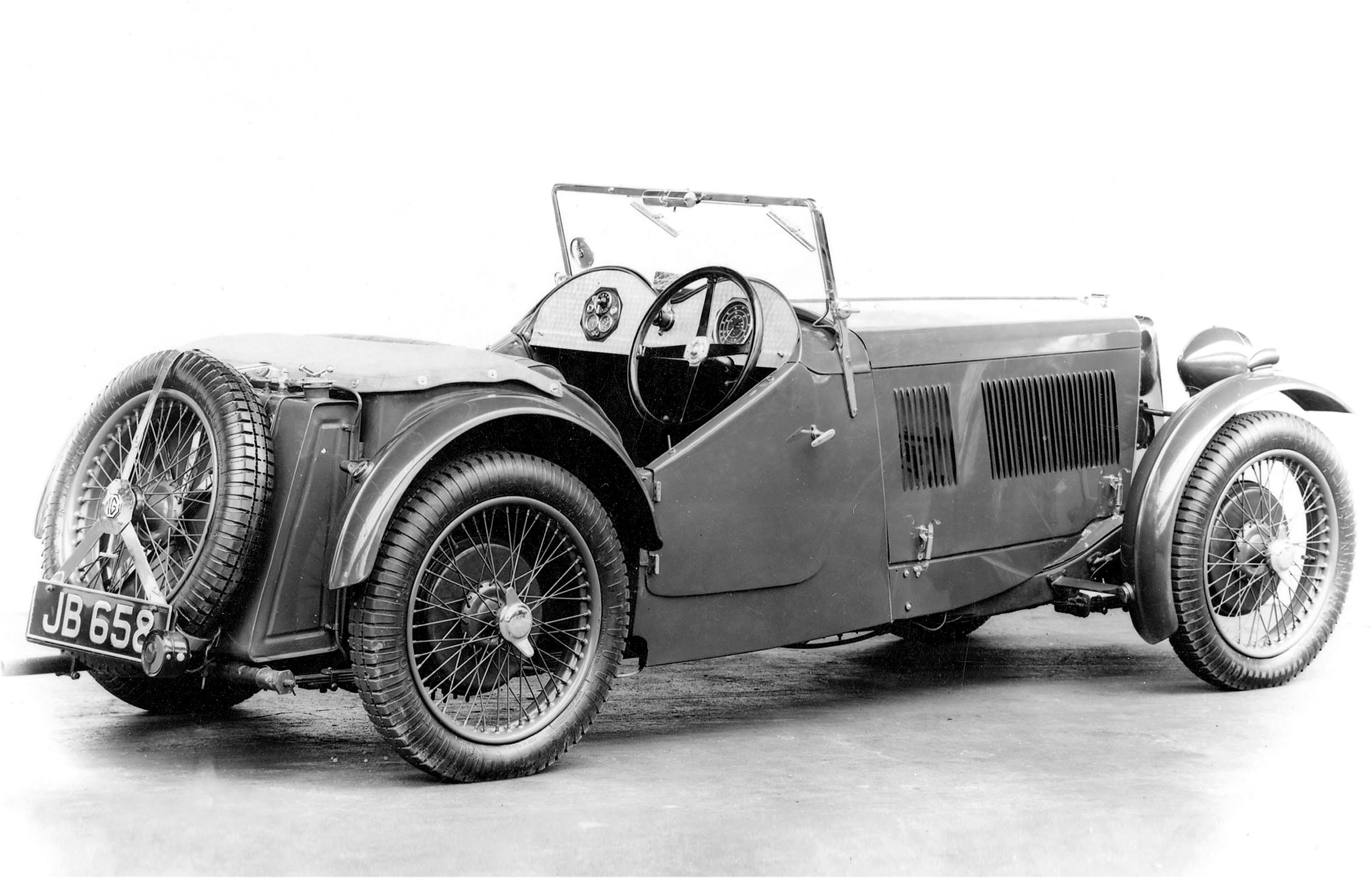 Slab tank, cycle-type wings, cutaway doors, they looked the epitome of the 1930s sports car