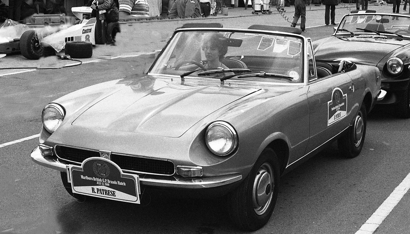 EX234. An MG might-have-been features in MG Classics Book 3. Author's picture from drivers' parade at 1980 British Grand Prix revealing prototype.