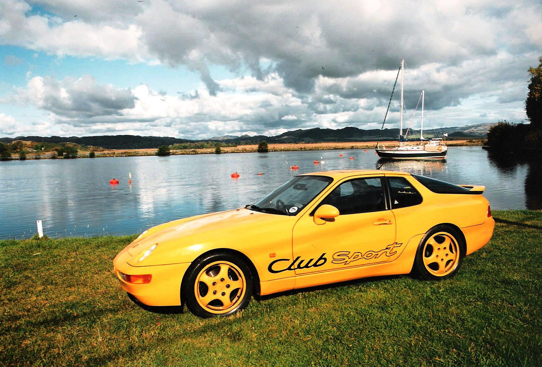 I took the Porsche to one of my favourite places in the world, Crinan on the West Coast of Scotland. Here it is by the yacht basin at Bellanoch on the Crinan Canal.