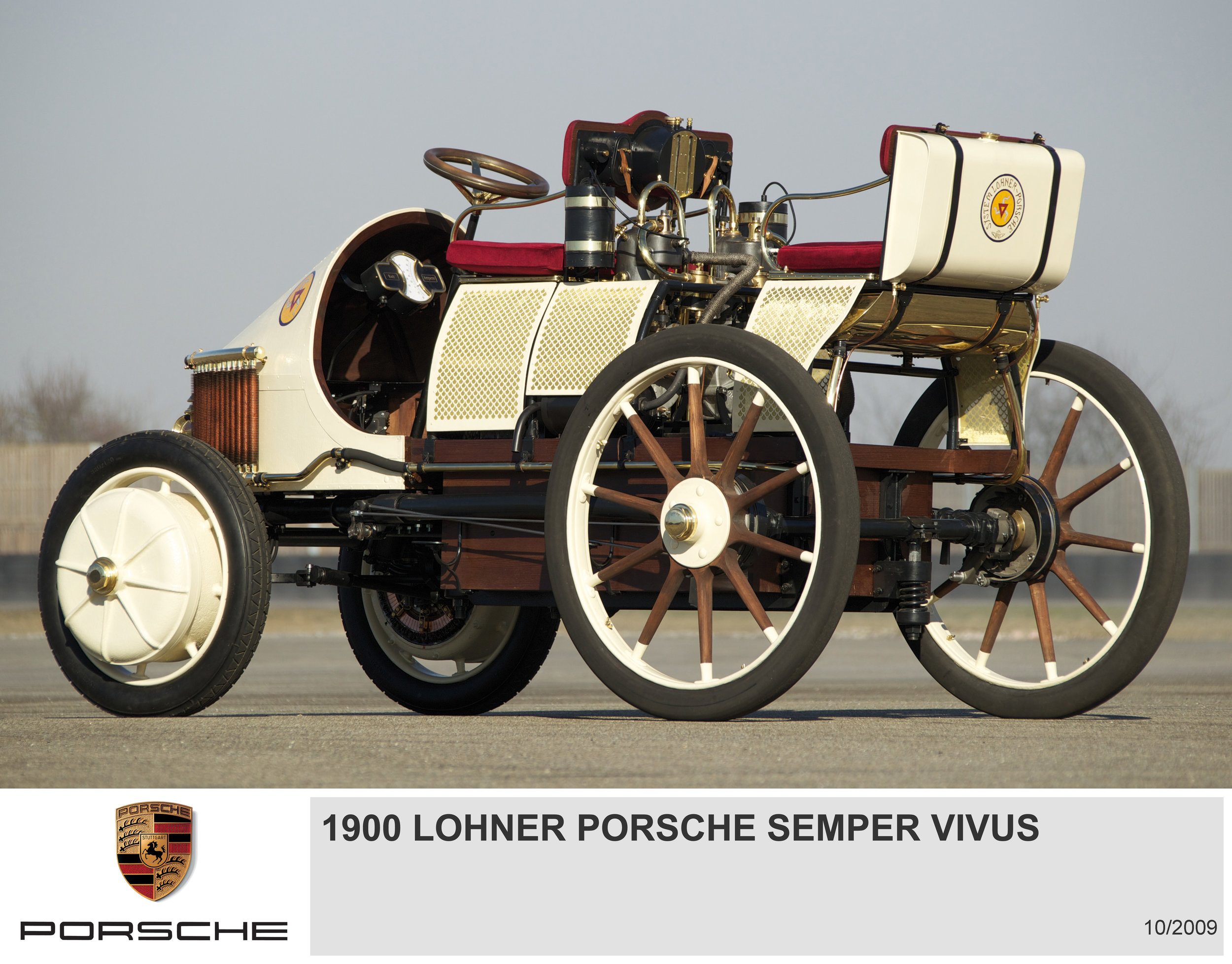 Lohner Porsche.. At the turn of the 20th century., visionary. Ferdinand pioneered making wheels as free-standing electric motors. A reinvention in the 21st.