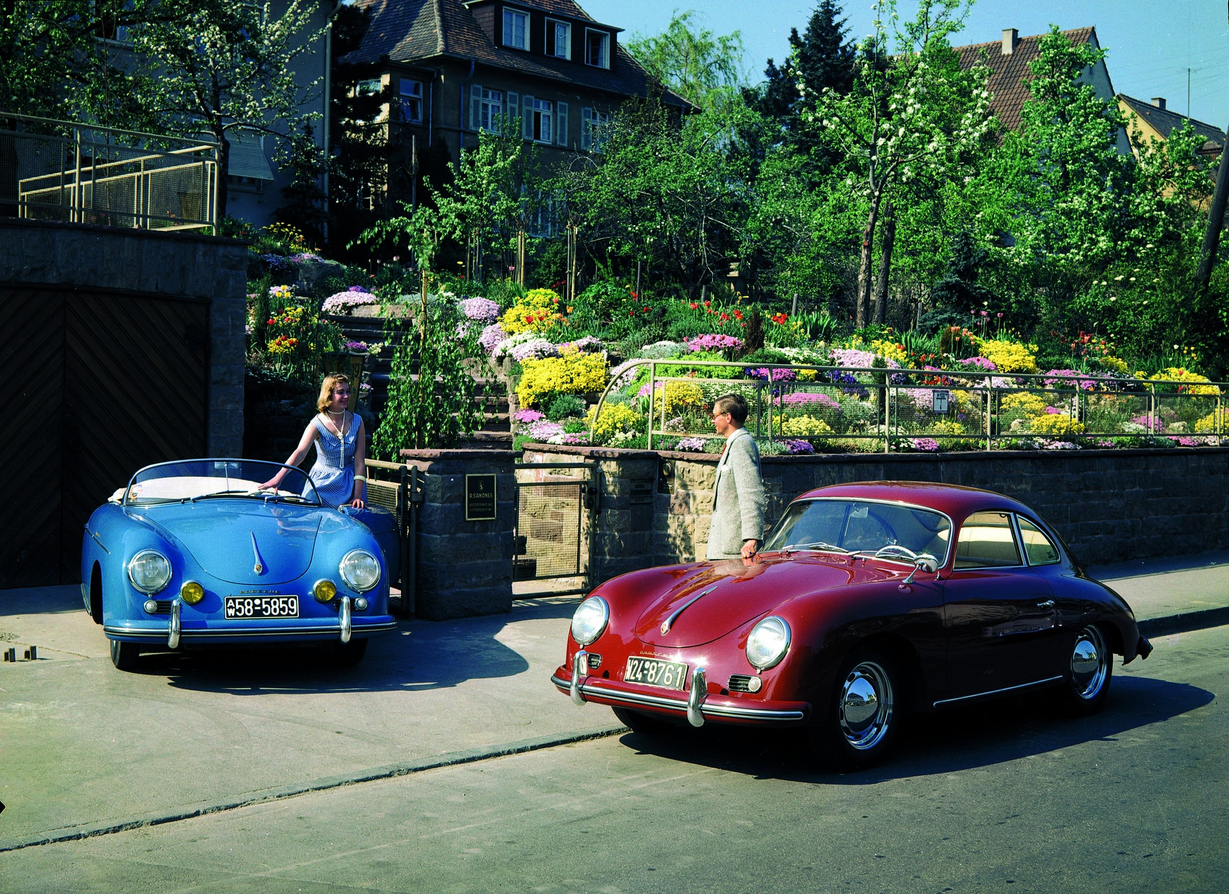 1955 Porsches, 356 Speedster and Coupe.