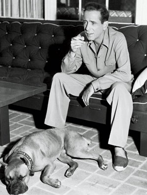 Humphrey Bogart wearing espadrilles. I'm sure the dog would be too if it were up to him.