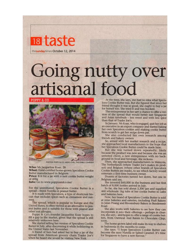 The Sunday Times - Going nutty over artisanal food.jpg