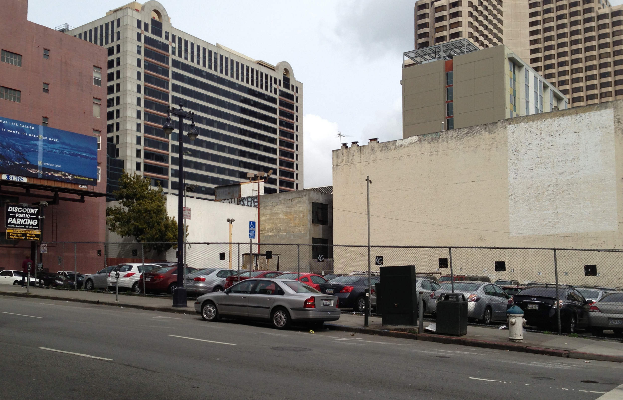 The site of the 2013 Architecture at Zero competition in the Tenderloin. Photo: Loren Wearsch.