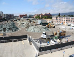 A view of the Competition Site in Emeryville, CA.