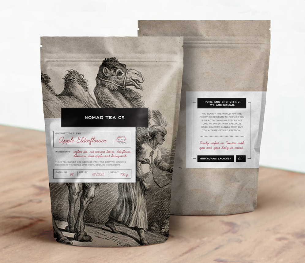 Nomad Tea Co. Identity & Packaging →