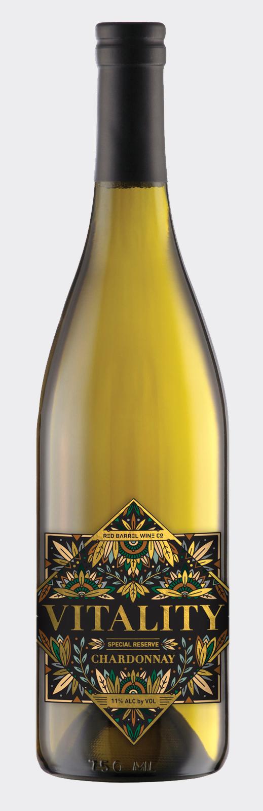 Vitality Wine Label Design →
