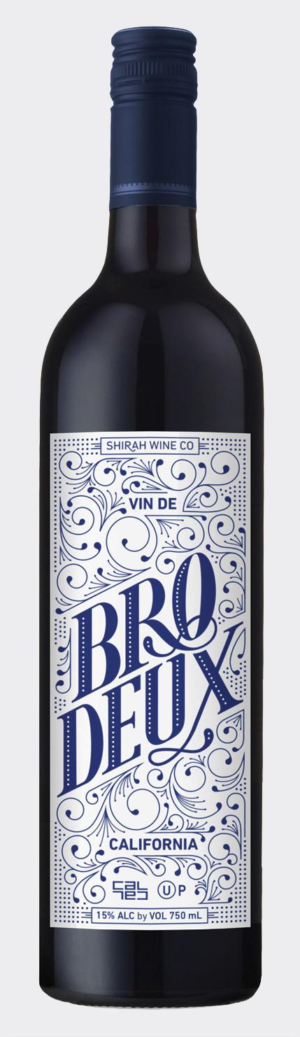 Bro.Deux Wine Label Design →