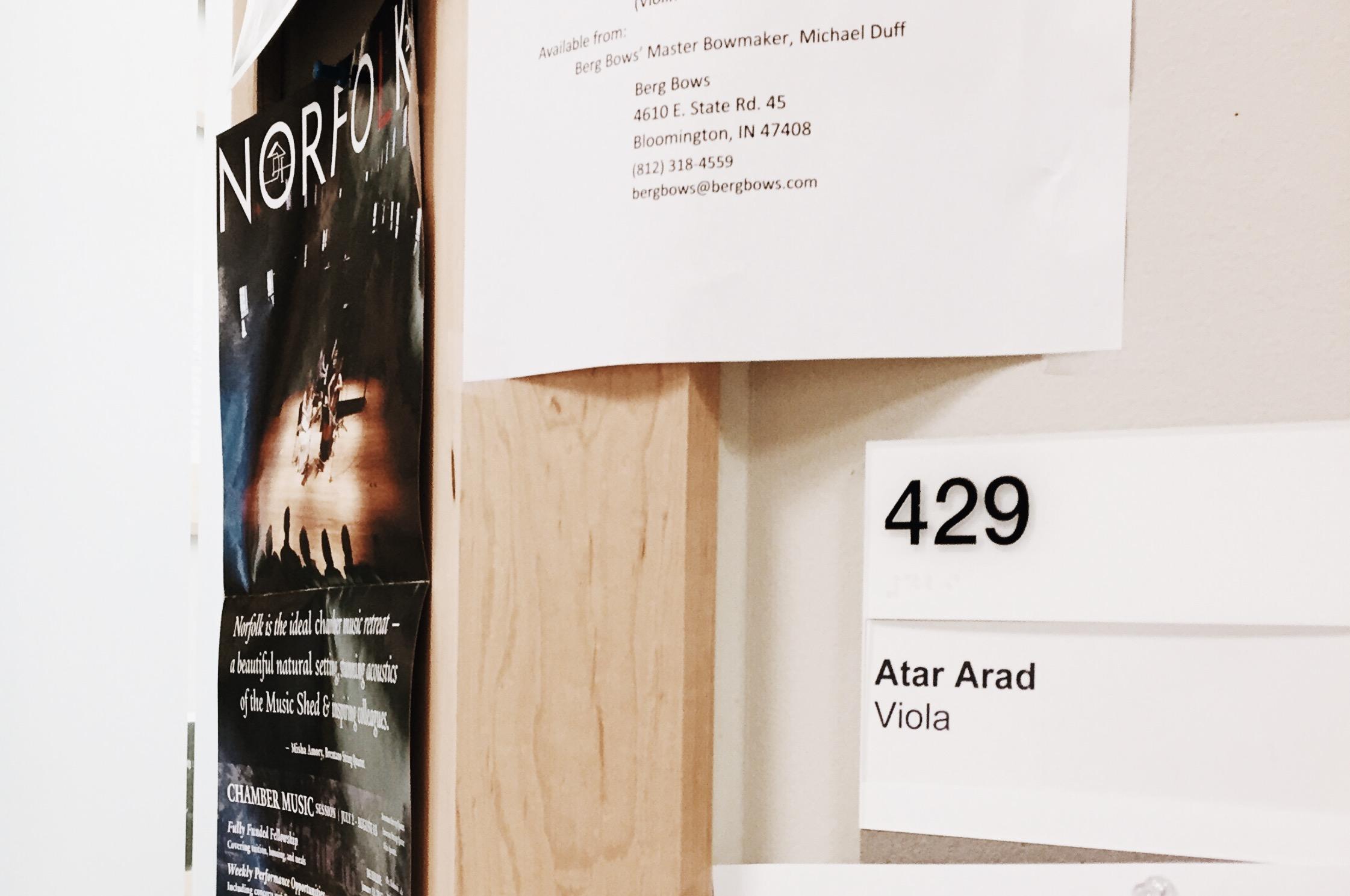 prof. Arad's studio at Indiana University