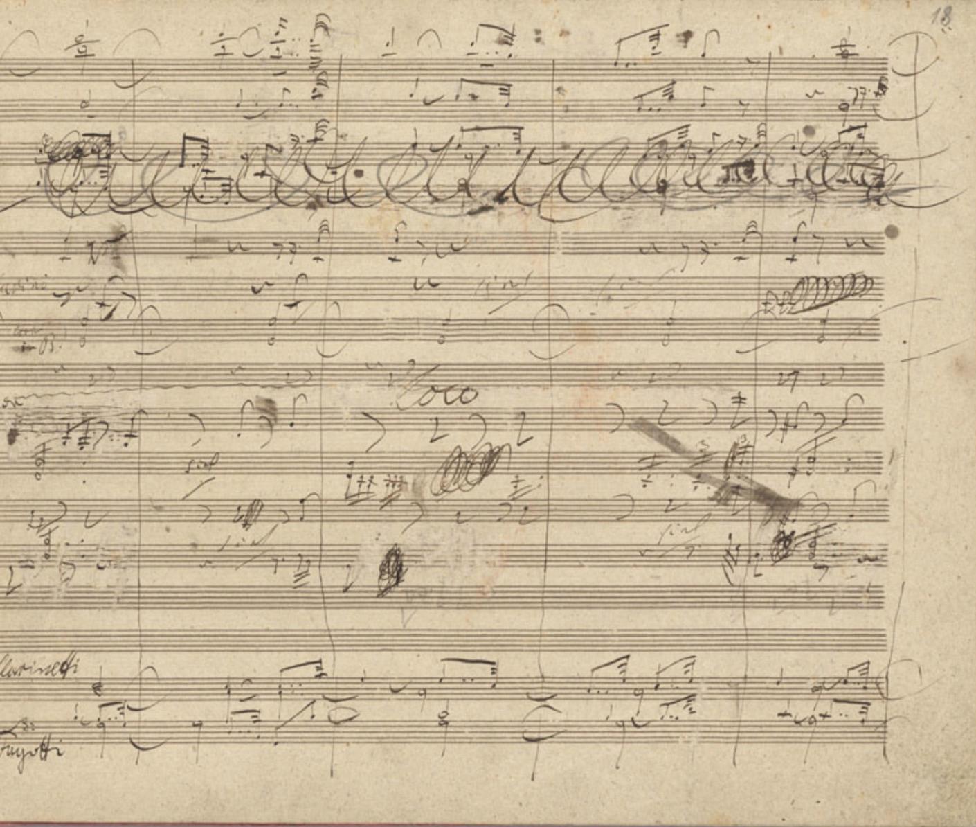 Beethoven The 9th Symphony Autograph Manuscript