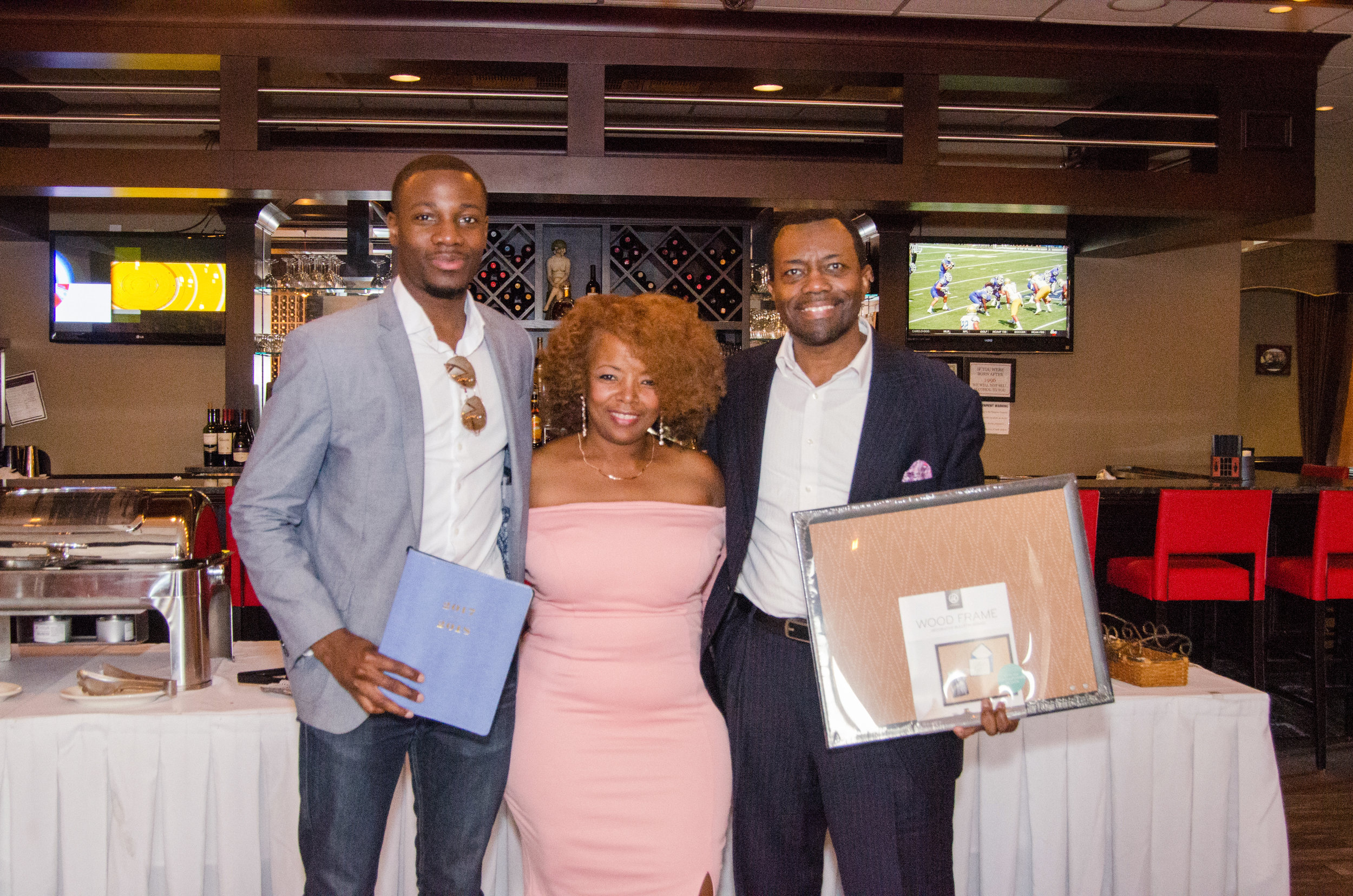 During the drawing Rotimi (planner) and Derrick (vision board) won.
