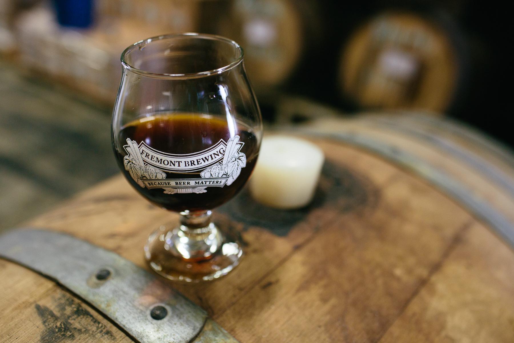 Fremont Brewing bourbon barrel beer