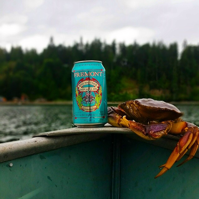 The Brother IPA with a friend on a canoe