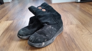 Farewell to these boots that have been weighing me down