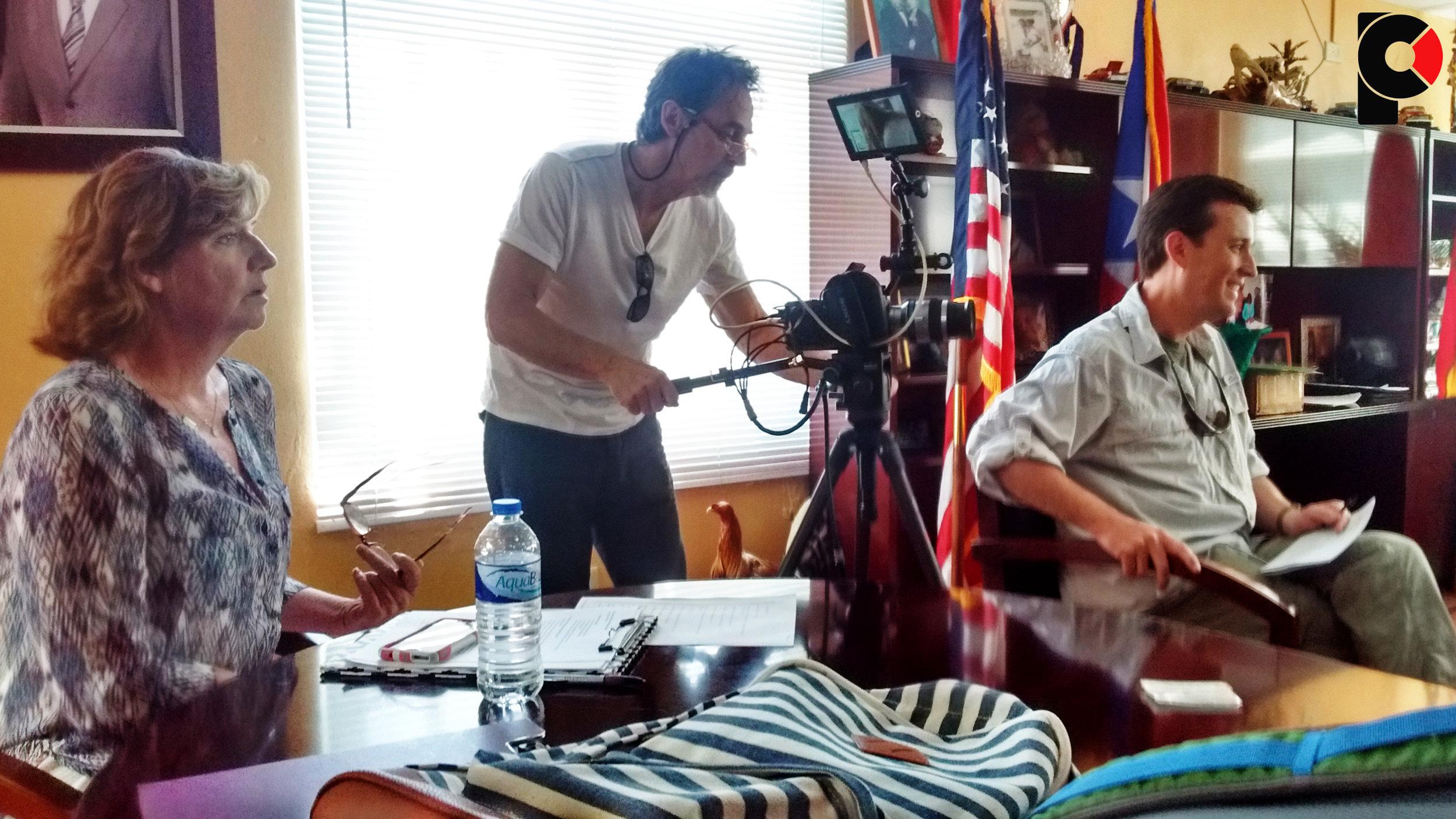 Patricia Cook, Executive Producer, Gary Geboy, Alejandro Muzio, interviewer.